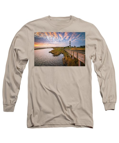 Bodie Island Lighthouse Outer Banks North Carolina Obx Nc Long Sleeve T-Shirt