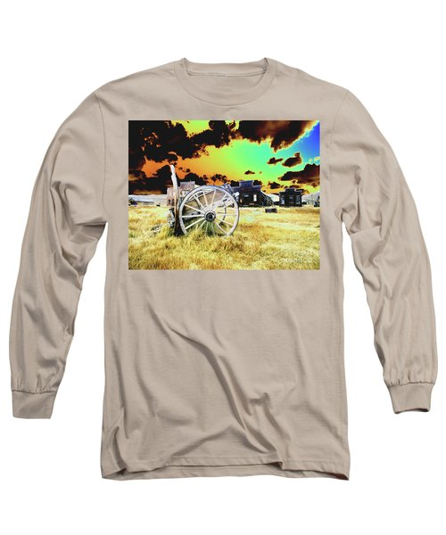 Long Sleeve T-Shirt featuring the photograph Bodie Wagon by Jim and Emily Bush