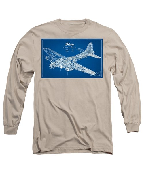Boeing Flying Fortress Long Sleeve T-Shirt by Pg Reproductions