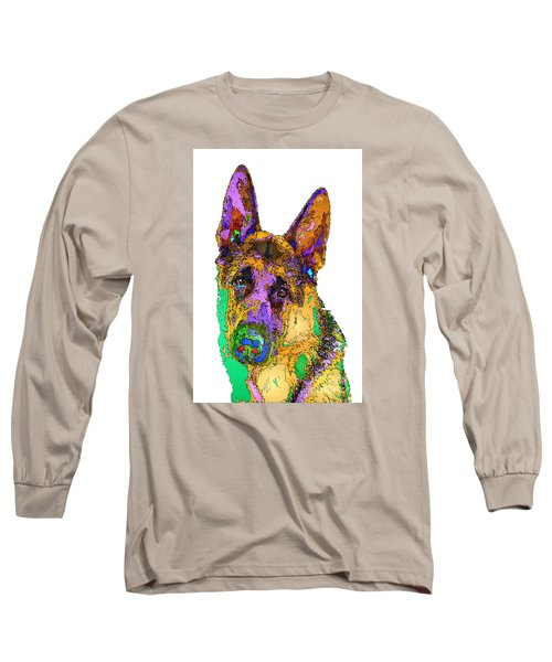 Bogart The Shepherd. Pet Series Long Sleeve T-Shirt