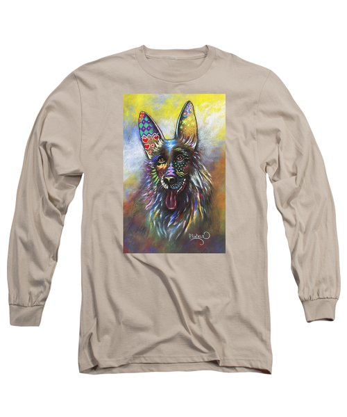 German Shepherd Long Sleeve T-Shirt by Patricia Lintner