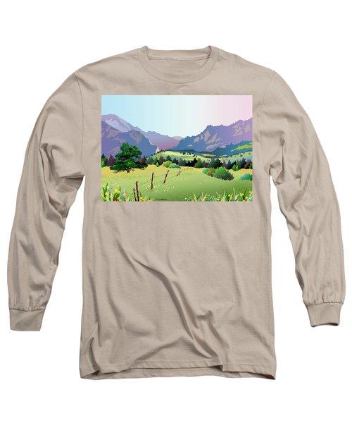 Bolder Boulder Poster 2009 Long Sleeve T-Shirt