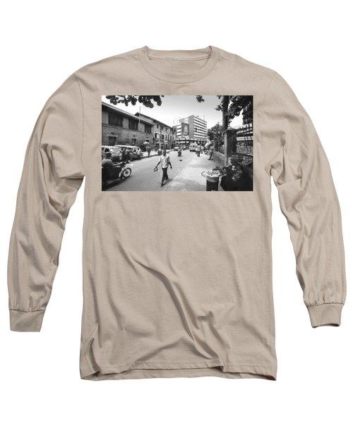 Broad Street Facing Cms Bus-stop Long Sleeve T-Shirt