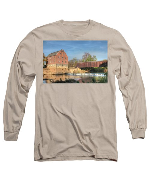 Bollinger Mill And Burfordville Covered Bridge Long Sleeve T-Shirt