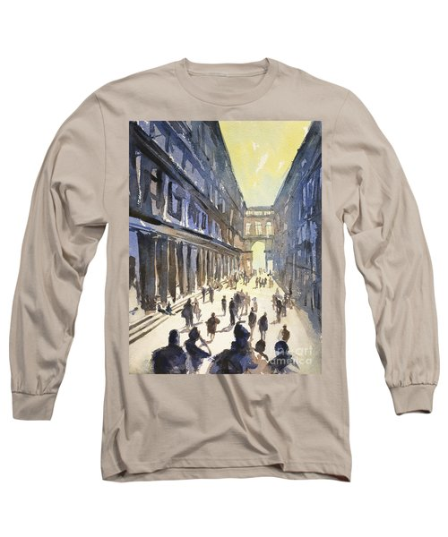 Long Sleeve T-Shirt featuring the painting Bologna Sunset- Italy by Ryan Fox