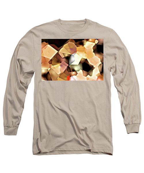 Long Sleeve T-Shirt featuring the digital art Bonded Shapes by Ron Bissett