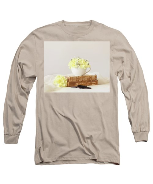Books And Flowers Long Sleeve T-Shirt