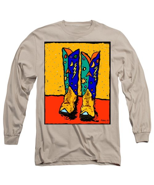 Boots On Yellow 24x30 Long Sleeve T-Shirt