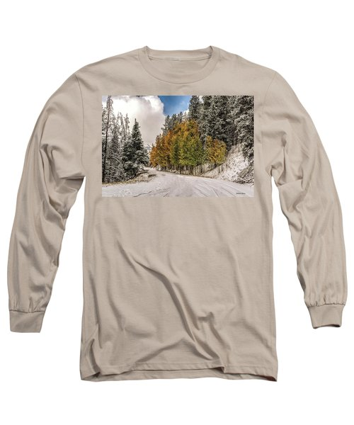 Boreas Pass Road Aspen And Snow Long Sleeve T-Shirt