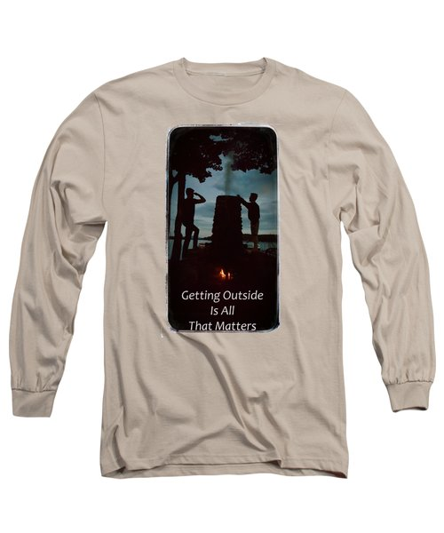 Boys Looking On Long Sleeve T-Shirt by Jeff Folger