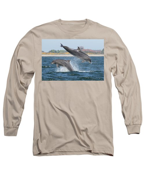 Long Sleeve T-Shirt featuring the photograph Bottlenose Dolphin - Moray Firth Scotland #48 by Karen Van Der Zijden