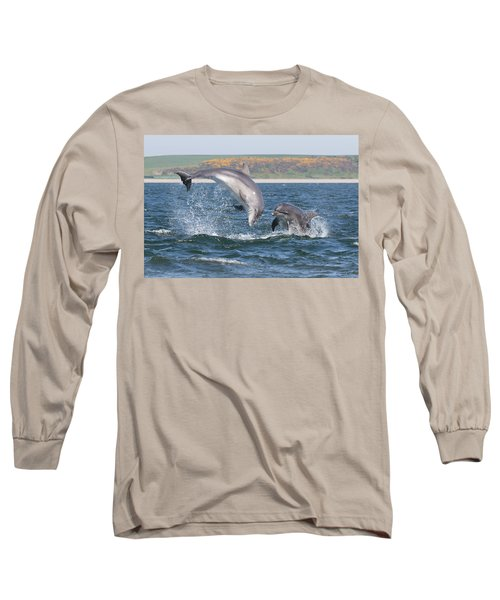Long Sleeve T-Shirt featuring the photograph Bottlenose Dolphin - Moray Firth Scotland #49 by Karen Van Der Zijden