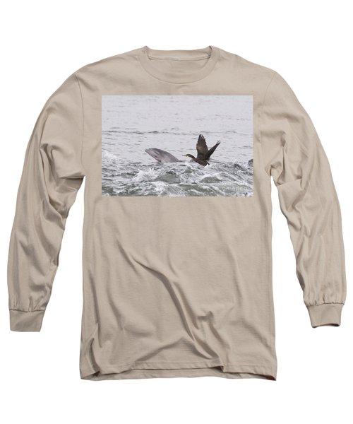 Baby Bottlenose Dolphin - Scotland #10 Long Sleeve T-Shirt