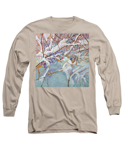 Long Sleeve T-Shirt featuring the painting Boughs In Winter by Joanne Smoley