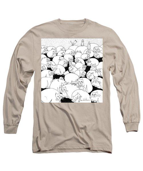 Boulder Cats Long Sleeve T-Shirt by Lou Belcher