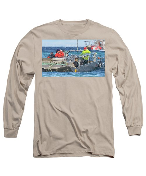 Long Sleeve T-Shirt featuring the photograph Bouncing Herring by Randy Hall