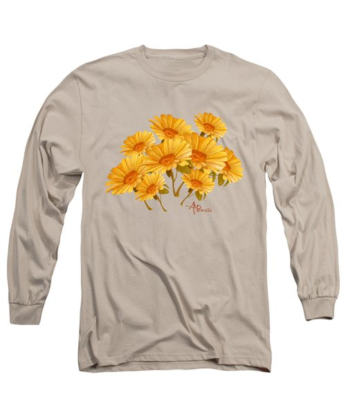 Bouquet Of Daisies Long Sleeve T-Shirt by Angeles M Pomata