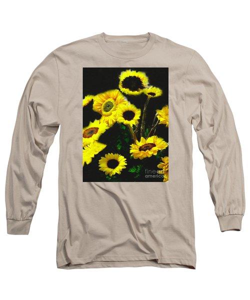 Long Sleeve T-Shirt featuring the photograph Bouquet Of Sunflowers by Merton Allen