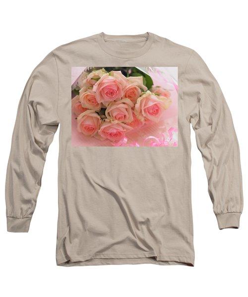 Bouquet Of Sweetness Long Sleeve T-Shirt by Rachel Mirror