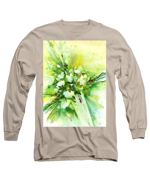 White Roses In Vase Long Sleeve T-Shirt
