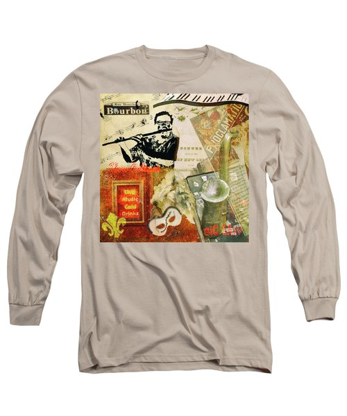 Bourbon Street Collage Long Sleeve T-Shirt