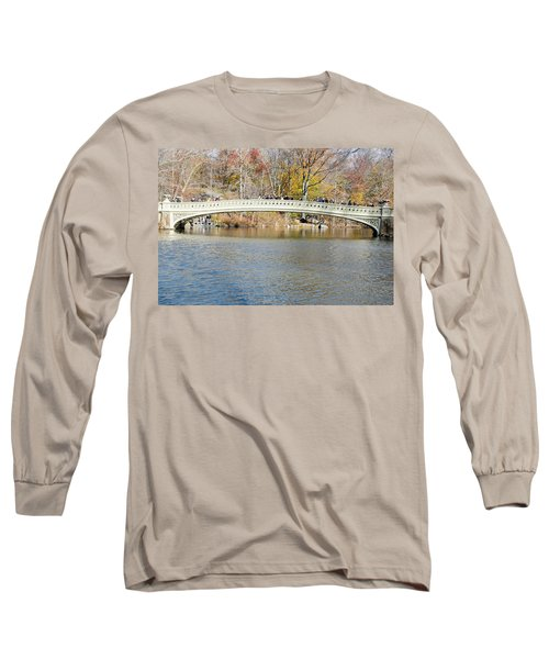 Long Sleeve T-Shirt featuring the photograph Bow Bridge With Wedding by Steven Richman