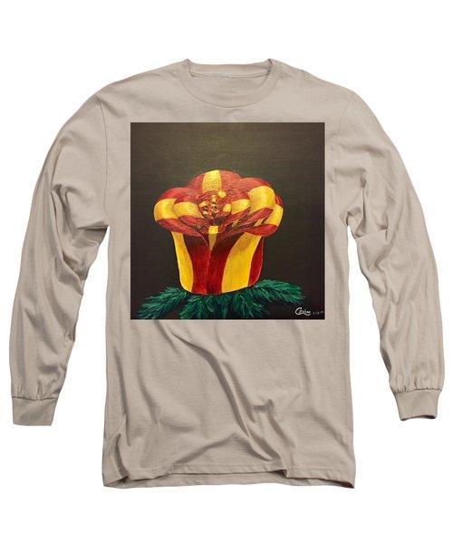 Bow Rose Long Sleeve T-Shirt