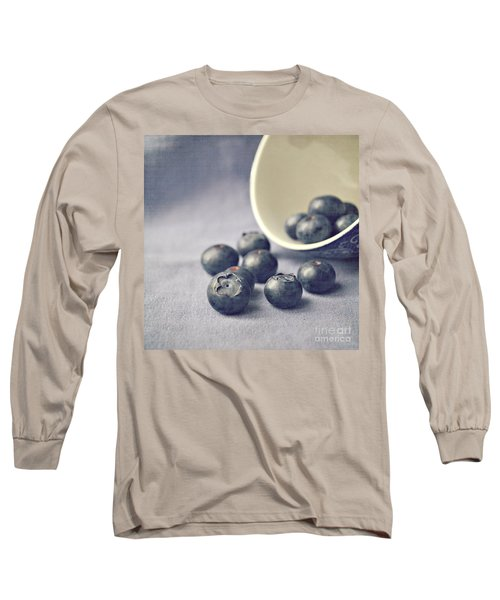 Bowl Of Blueberries Long Sleeve T-Shirt by Lyn Randle