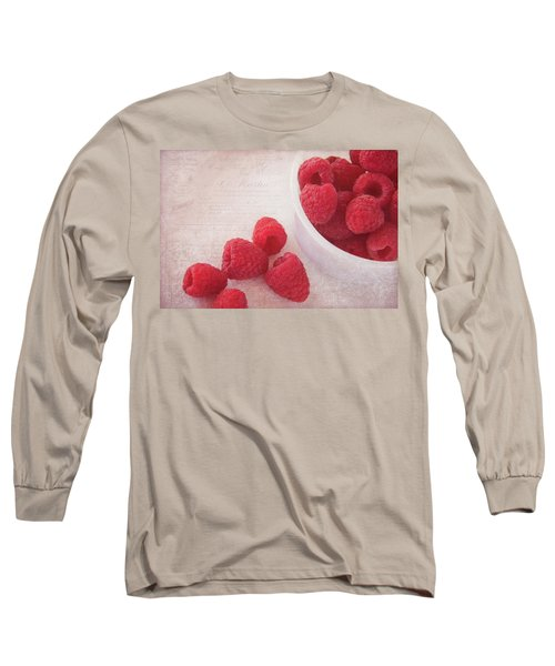 Bowl Of Red Raspberries Long Sleeve T-Shirt