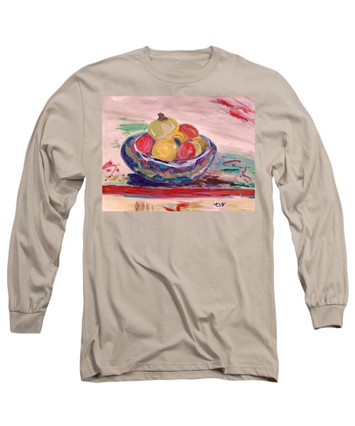 Bowl On A Red Edge Long Sleeve T-Shirt