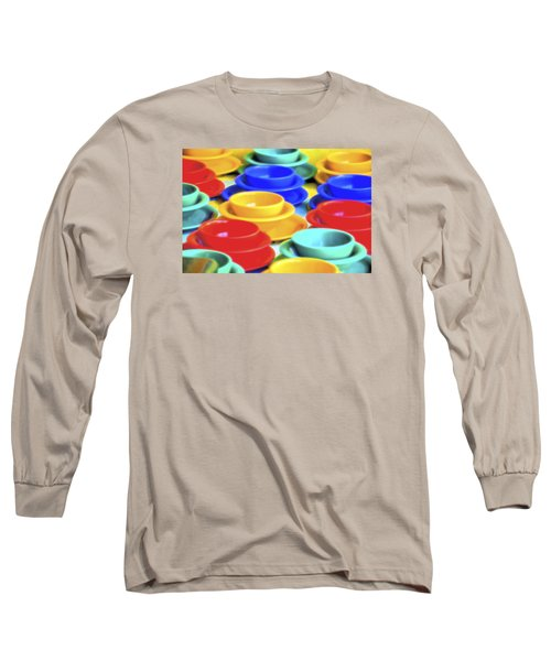 Long Sleeve T-Shirt featuring the photograph Bowls In The Window by Tom Singleton