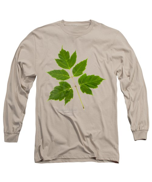 Long Sleeve T-Shirt featuring the mixed media Box Elder Maple by Christina Rollo