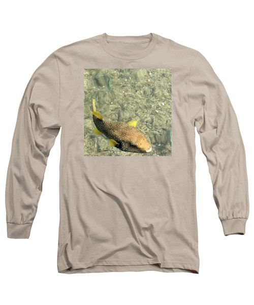 Long Sleeve T-Shirt featuring the photograph Box Fish - 3 by Karen Nicholson