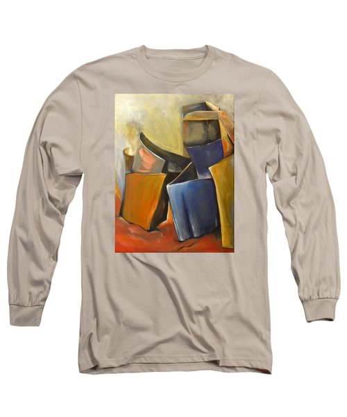 Box Scape Long Sleeve T-Shirt by Nadine Dennis