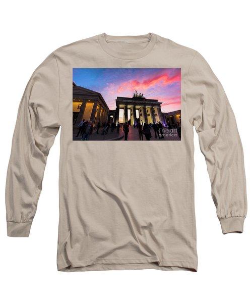 Branderburg Gate Long Sleeve T-Shirt by Pravine Chester