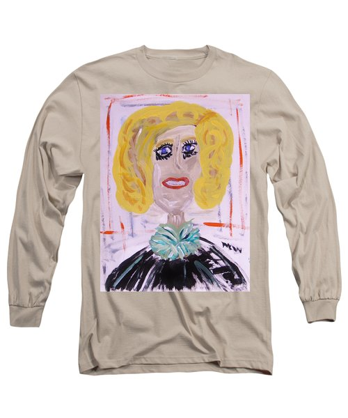 Long Sleeve T-Shirt featuring the painting Brash Blond by Mary Carol Williams