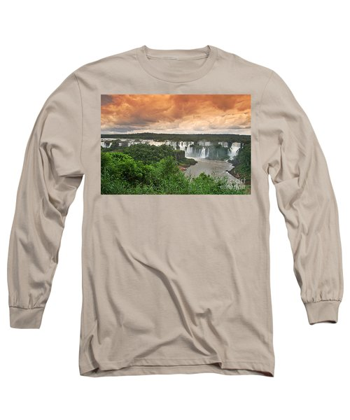 Long Sleeve T-Shirt featuring the photograph Brazil,iguazu Falls,spectacular View by Juergen Held