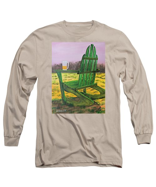 Long Sleeve T-Shirt featuring the painting Break Time by Jack G  Brauer