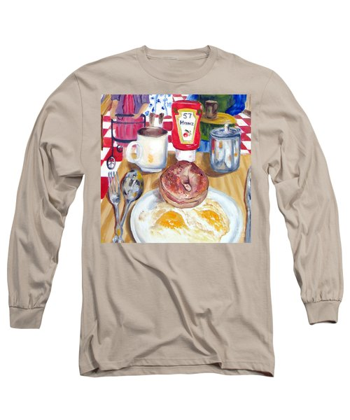 Breakfast At The Deli Long Sleeve T-Shirt by Lisa Boyd