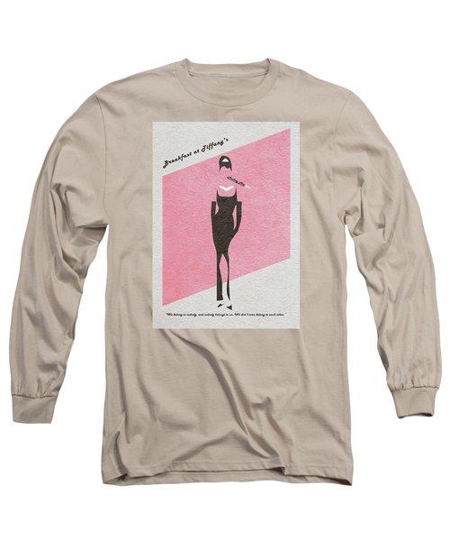 Breakfast At Tiffany's Long Sleeve T-Shirt by Ayse Deniz