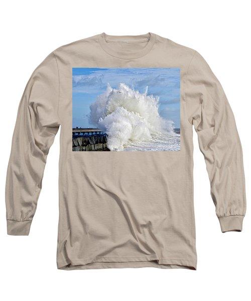 Breakwater Explosion Long Sleeve T-Shirt by Michael Cinnamond