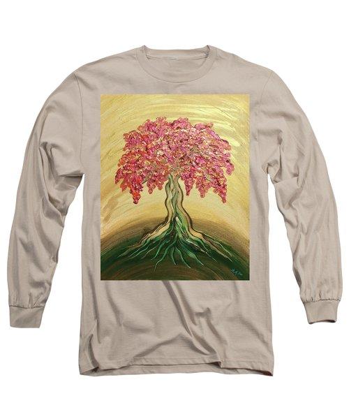 Breathe Golden Peace Long Sleeve T-Shirt