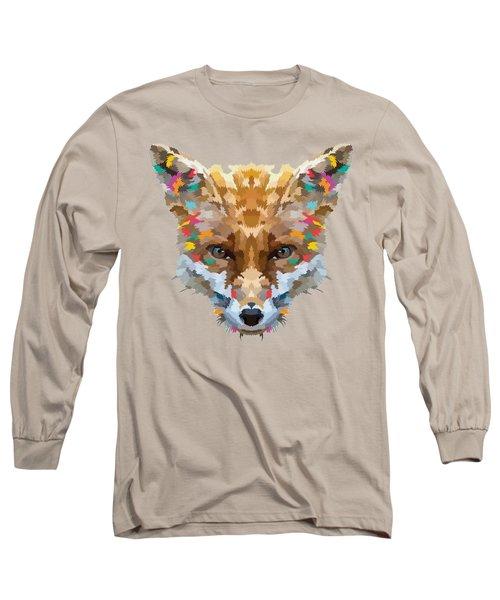 Brerr Fox T-shirt Long Sleeve T-Shirt by Herb Strobino