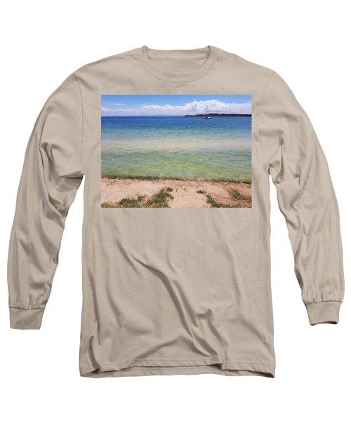 Bribie Ocean  Long Sleeve T-Shirt