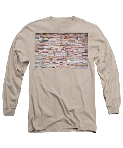 Long Sleeve T-Shirt featuring the photograph Brick Tiled Wall by John Williams