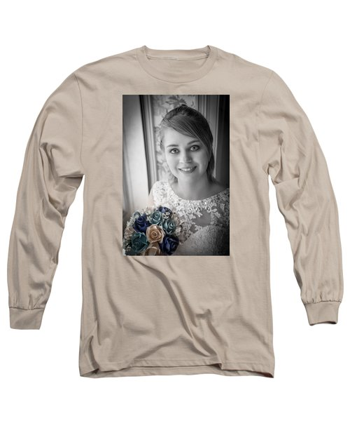 Long Sleeve T-Shirt featuring the photograph Bride At Window by Ray Congrove
