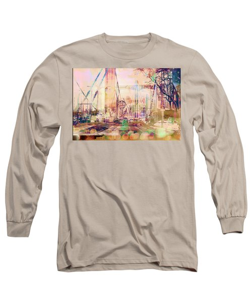 Long Sleeve T-Shirt featuring the photograph Bridge And Grain Belt Beer Sign by Susan Stone