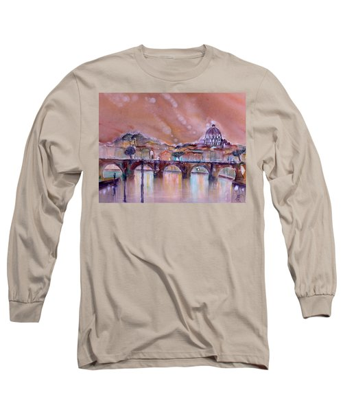 Bridge Of Angels - Rome - Italy Long Sleeve T-Shirt