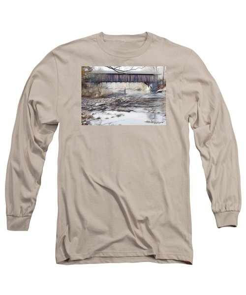 Bridge Over Troubled Waters Long Sleeve T-Shirt by EricaMaxine  Price