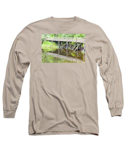 Bridge To Nowhere Long Sleeve T-Shirt by Harold Piskiel